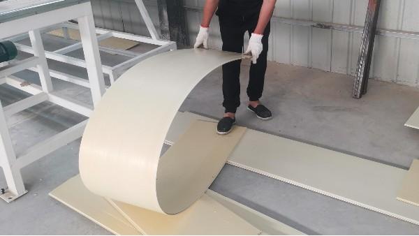 山东客户PVC发泡墙板解决问题调试报告